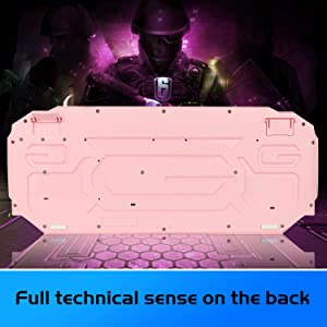 Pink Gaming Keyboard and Mouse Combo,MageGee GK710 Wired Backlight Pink Keyboard and Pink Mouse for Girl,PC Keyboard and Adjustable DPI Mouse for PC/Laptop/MAC(Pink) (Color: GK710 pink)
