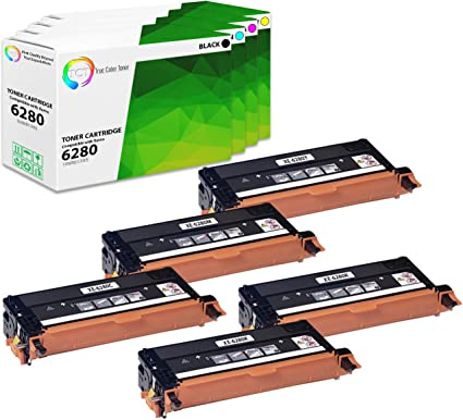 TCT Premium Compatible Toner Cartridge Replacement for Xerox 106R01395 Black Works with Xerox Phaser 6280 6280N Printers 7,000 Pages