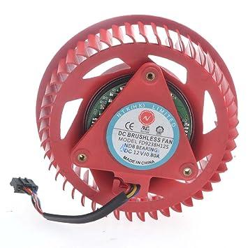 puuli NTK fd9238h12s tarjeta gráfica ventilador 12 V 0,8 A ventilador de refrigeración para ATI HD5870 HD5970 Turbo turbofán: Amazon.es: Electrónica