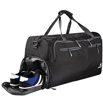 Coreal 60L Duffel Bag Travel Gym Luggage with Shoe Compartment   Amazon.co.uk  Luggage d77ef055aaf83