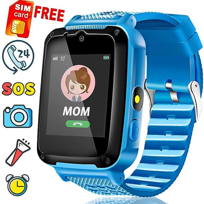 Speedtalk SIM Included]Kids Smart Watch Phone for 3-14 Year Boys Girl 1.4