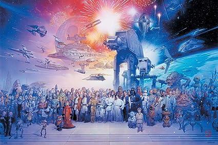 Poster Star Wars VII Le R/éveil de La Force Erik/® 91x61cm Papier Glac/é