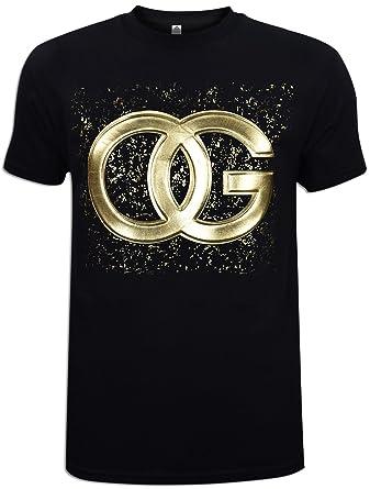 0c918280 Amazon.com: JLGUSA OG Original Gangster T Embossed Graphic T-Shirt Foil  Unisex Fashion Printed New: Clothing