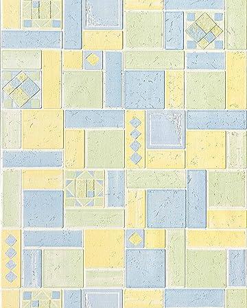 Hochqualitative Design Struktur Tapete EDEM VERSAILLES 165 24 Fliesen Muster  Vinyltapete Relief Tapete Küche