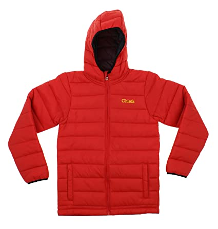 sports shoes 17340 12977 Outerstuff NFL Youth Solid Packawy Puffer Jacket, Kansas City Chiefs