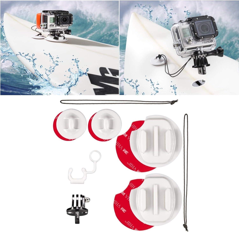 GoPro Hero 6//5//4//3 Patineta Longboard Tabla De Surf Cometa Accesorios de Adaptador de montaje