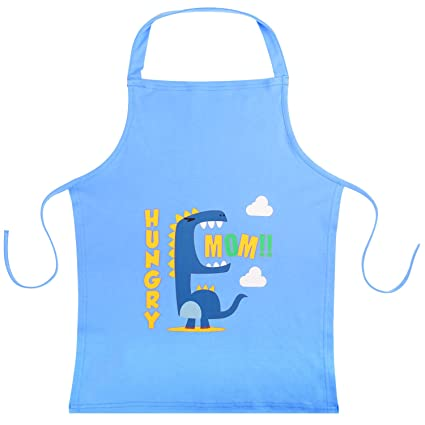Nuovoware Kids Apron, Cute Cartoon Cotton Child Smock Reusable Small Apron  22\