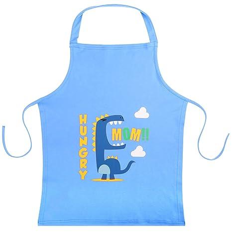 Kinderschürze Kochen Bastelschürze Werkschürze Küche Schulschürze DINOSAURIER