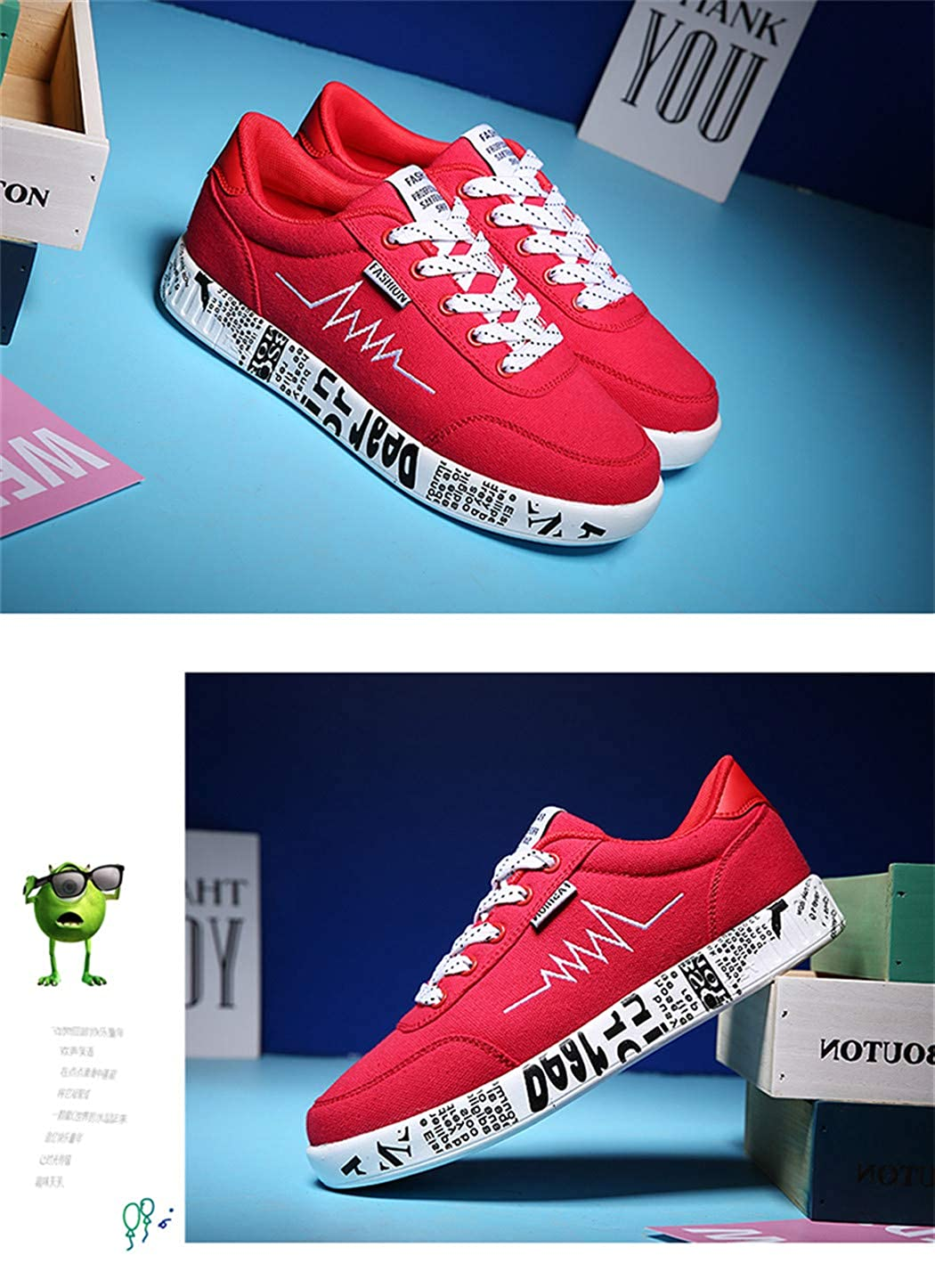 Women Vulcanized Shoes Sneakers Ladies Lace-Up Fashion Casual Shoes Breathable Walking Canvas Shoes