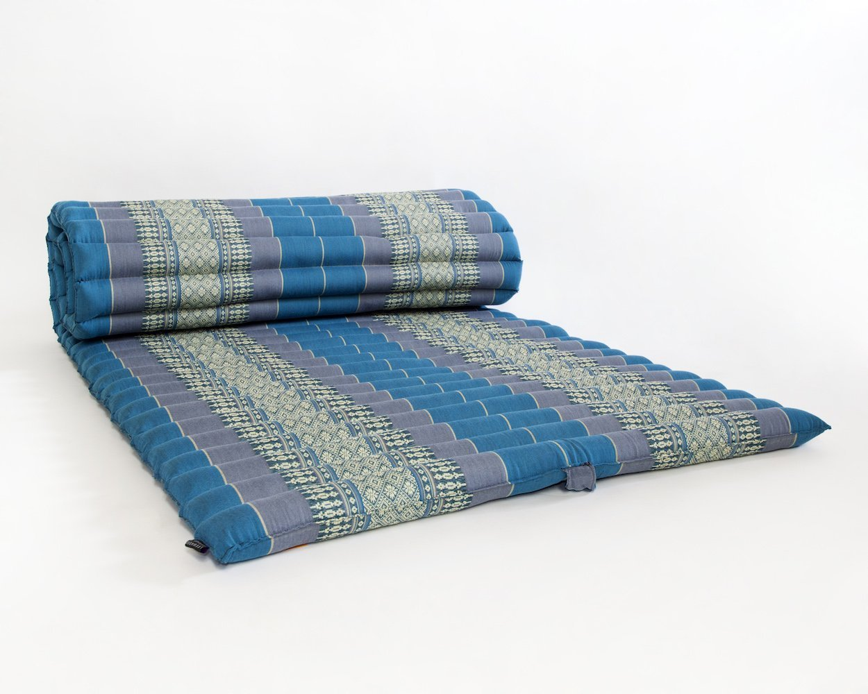 Noinoi@roll up Thai Mattress Kapok (Large, Sky Blue) by thai mattress