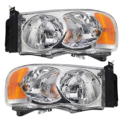 6c273a4b20 Amazon.com  Headlights Depot Replacement for Dodge Ram 1500 2500 ...
