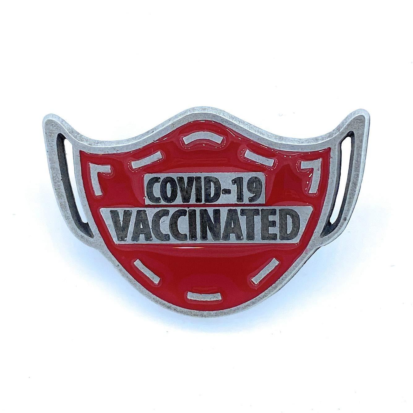 HESTAI COVID-19 Awareness Pin mRNA vaccine badge Vaccination Pin Black and Green