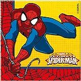 Procos - 86671–Lot de 20 serviettes en papier, motif Ultimate Spider Man Power, 33x 33cm, 2plis - Rouge, bleu et jaune