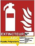 UTTSCHEID Signalétique extincteur ABC Poudre Polyvalente - Autocollant Vinyl Waterproof - L.150 x H.200 mm