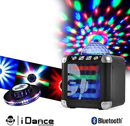 Mini Enceinte à Leds Rgb Sur Batterie Bluetooth Jeu De Lumière Effet Ovni Amazon Fr Instruments De Musique