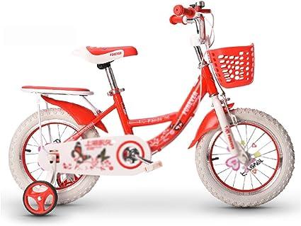 Kids Bikes Chunlan Rojo/Rosa Niños Bicicleta Niña Estructura ...