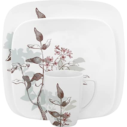 Corelle Square 32-Piece Dinnerware Set Twilight Grove Service for 8  sc 1 st  Amazon.com & Amazon.com | Corelle Square 32-Piece Dinnerware Set Twilight Grove ...