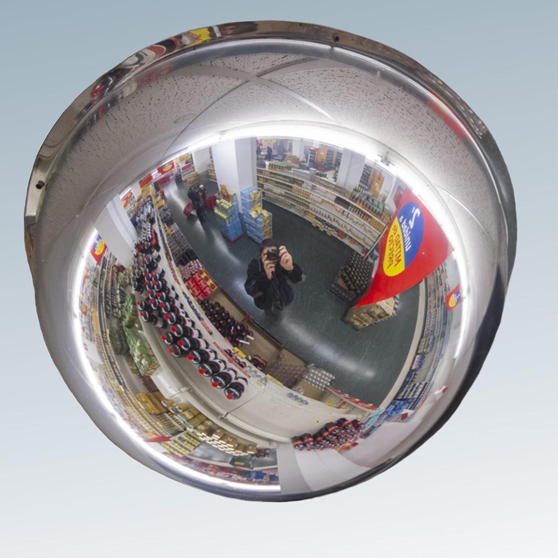 Profesional C/úpula Espejo techo Espejo Panor/ámico 360/grados espejo Observaci/ón /überwachungsspiegel Seguridad Espejo Espejo 60/cm de control por fin sin tener que Tornillos en