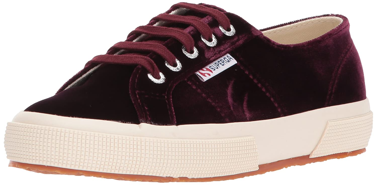 Superga Women's 2750 Velvetw Fashion Sneaker B072MFNZMX 40 M EU / 9 B(M) US|Bordeaux