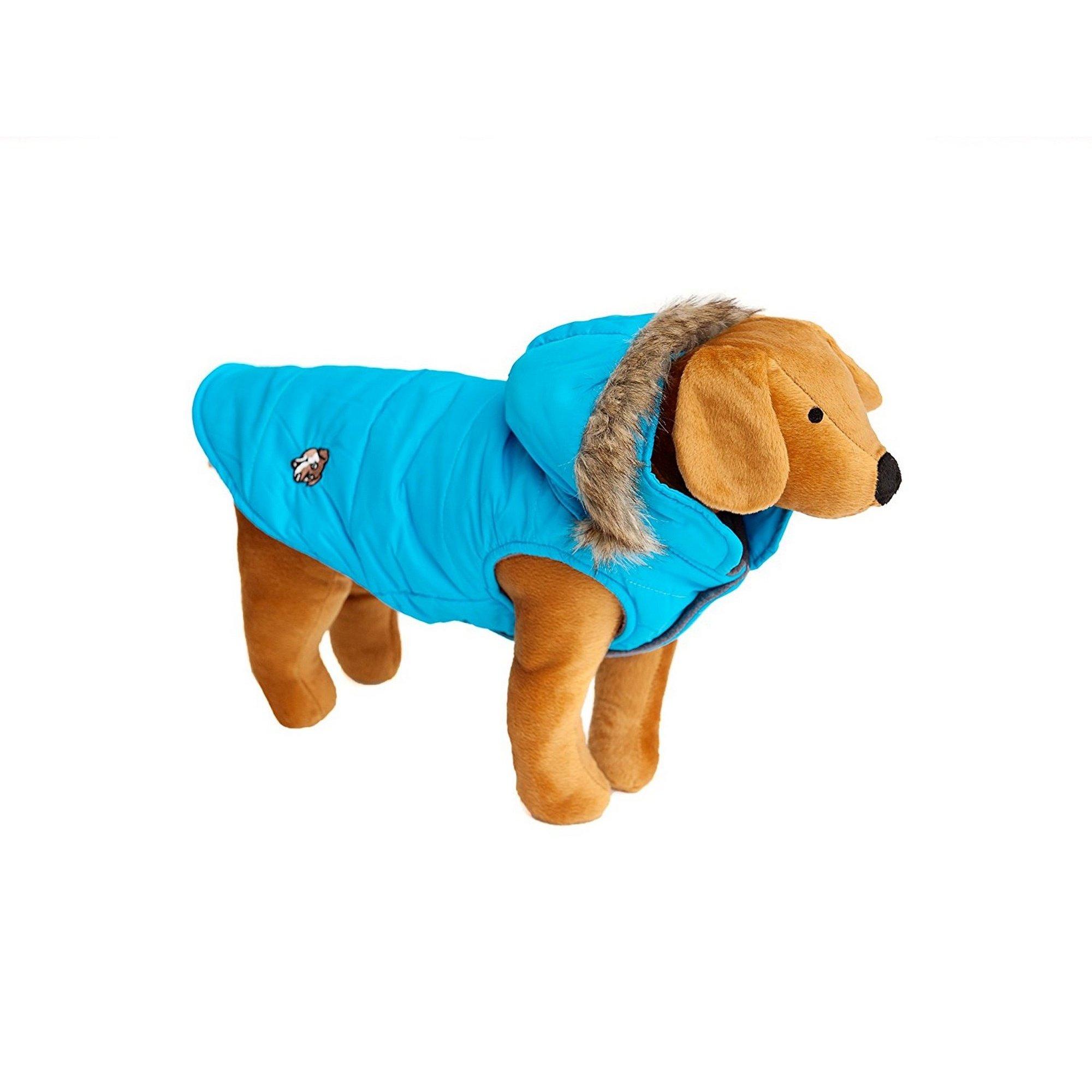 Animal Kingdom Doggy Things Puffa Waterproof Dog Jacket (Large) (Turquoise)