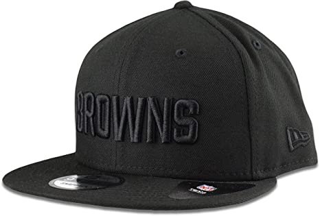 d74e4f94 Amazon.com : New Era Cleveland Browns Hat NFL Black on Black 9FIFTY ...