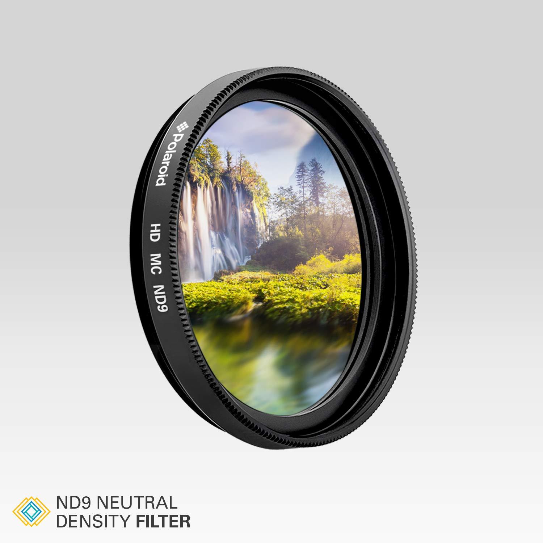 color negro Filtro de c/ámara densidad neutra 55 mm ND 0.9 Polaroid Optics PL-FILND955