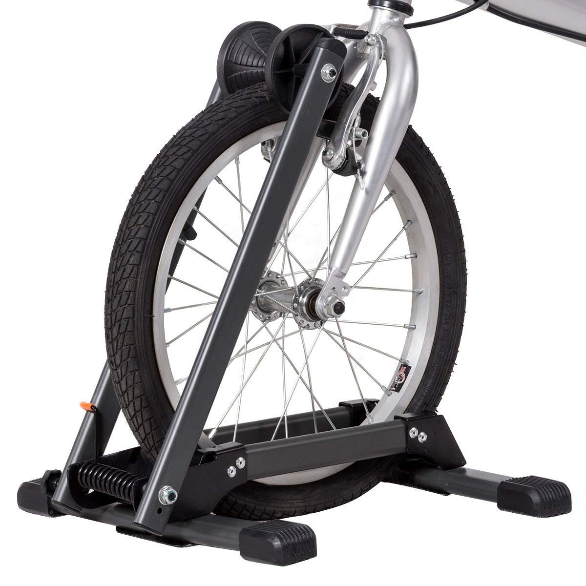 Toolsempire Foldable Bicycle Floor Parking Rack Bike Storage Stand Wheel Holder for Indoor Home Garage