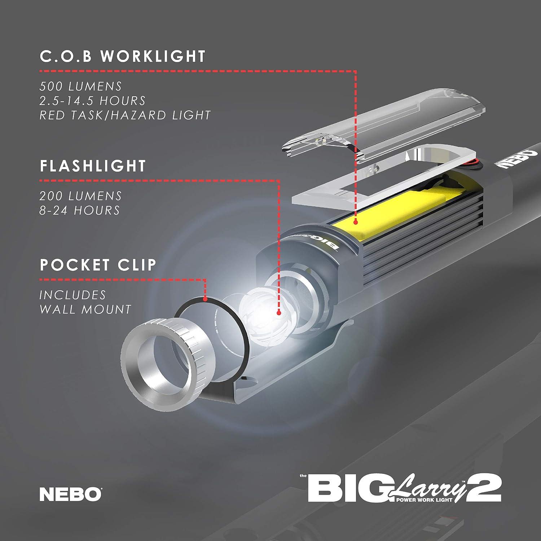 NEBO Big Larry 2 Camo 500-lumen Mechanic Inspection Flashlight