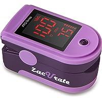Zacurate Pulsioxímetro, Pulsómetro y Oxímetro de Pulso del Dedo, Monitor de Nivel de Saturación del Oxígeno en la Sangre (Color Violeta)