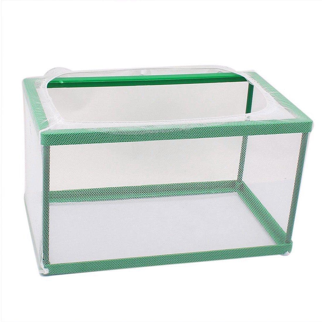 XMHF Nylon Mesh Fish Fry Hatchery Breeder Box Separation Net White Green