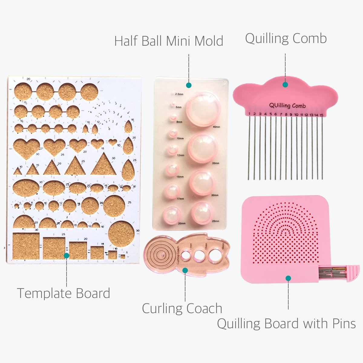 Lantee Quilling Supplies - 20 Sets of Quilling Paper Kits Include 8 Pack of 3mm 960 Quilling Paper Strips and 12 Quilling Tools by Lantee (Image #5)