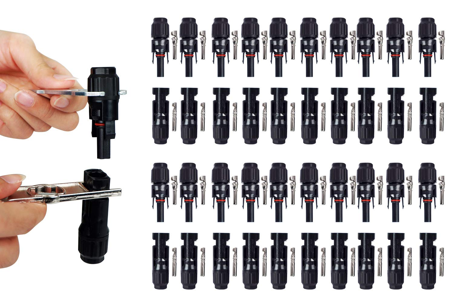 ECO LLC 1 Pair of MC4 Assembly Tool with 20 Pairs of Waterproof MC4 Solar Cable Connectors by ECO LLC (Image #9)