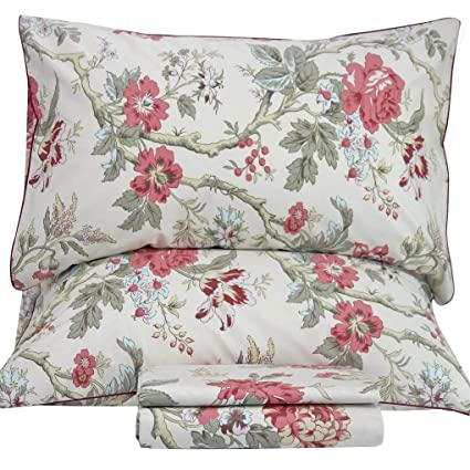 Amazon.com: Queenu0027s House Sheets Branches Pattern Bed Sheet Sets King,M:  Home U0026 Kitchen