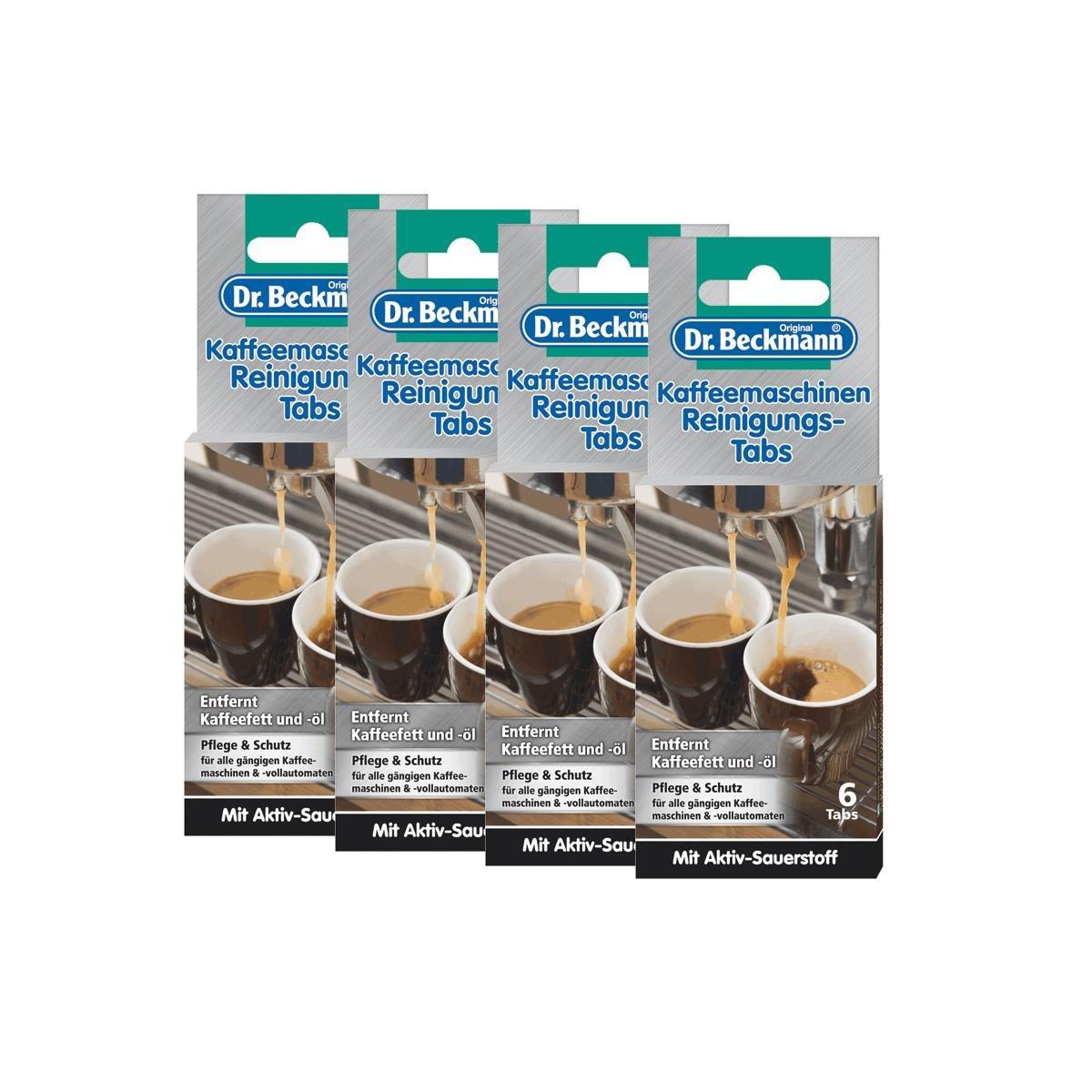 4 x máquina de café Dr. Beckmann de limpieza table Tabs - elimina el aceite y la grasa café: Amazon.es: Hogar