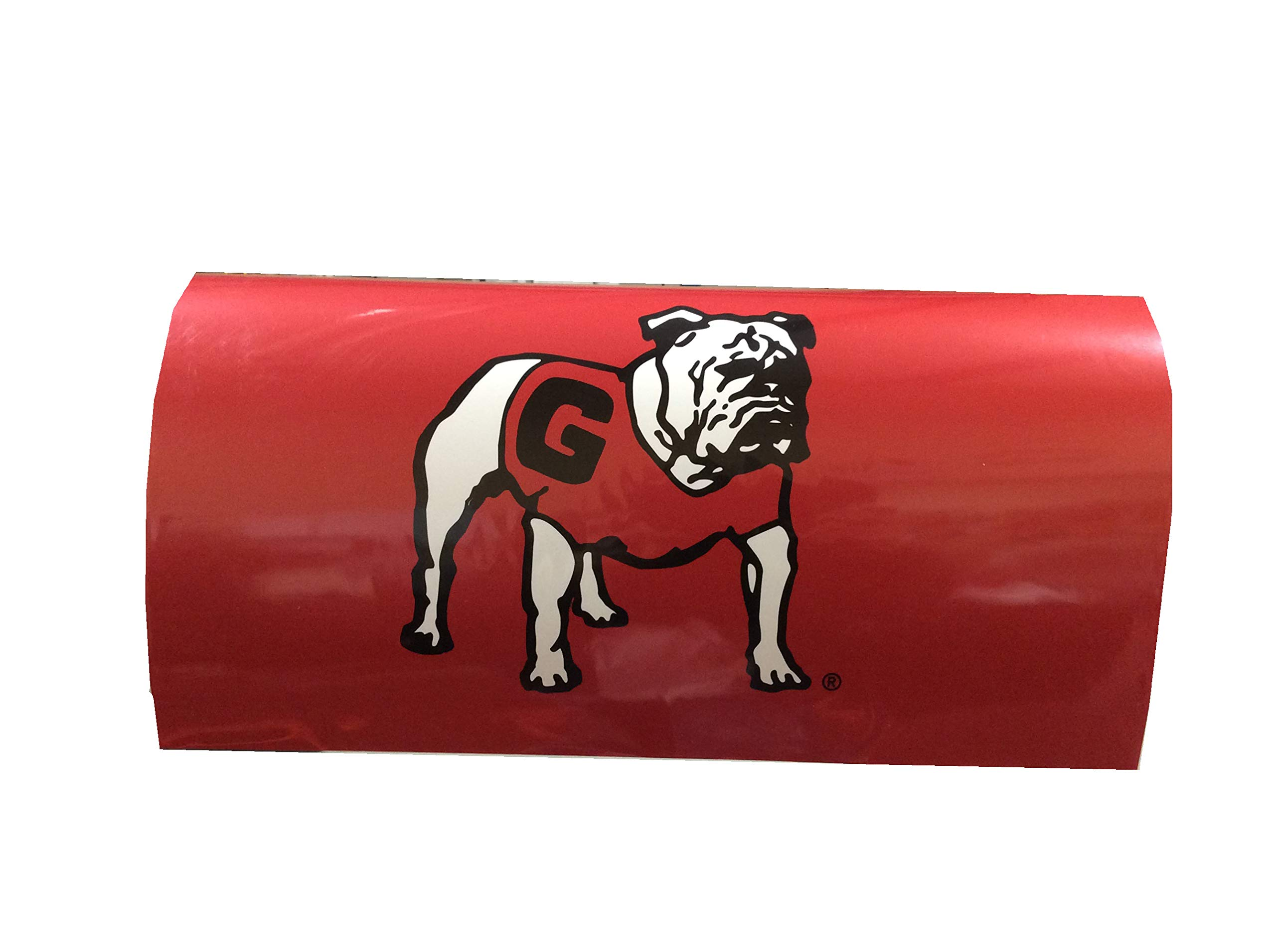 R and R Imports NCAA Georgia Standing Bulldog Magnetic Mailbox Cover-Red