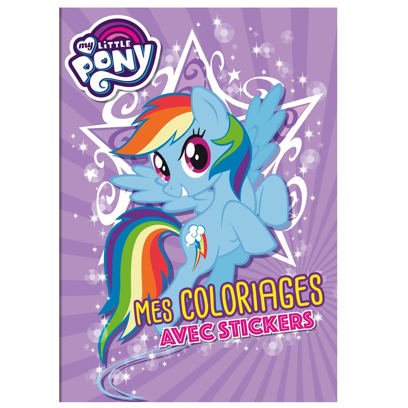 My Little Pony Movie Coloriages Avec Stickers Amazon Fr Hasbro Zabzrewska Adrianna Zmichowska Beata Guillemain Antoine Livres