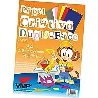 Bloco Para Educacao Artistica Dupla Face A4 C/8 24f 120g - Pacote com 01 Unidade V.M.P., Multicor