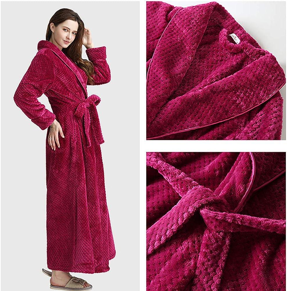 WJXBoos Donna Lunga Accappatoio Peluche pi/ù Dimensioni Accappatoio Caldo Comodo Vestaglie Paio Kimono Vestaglia