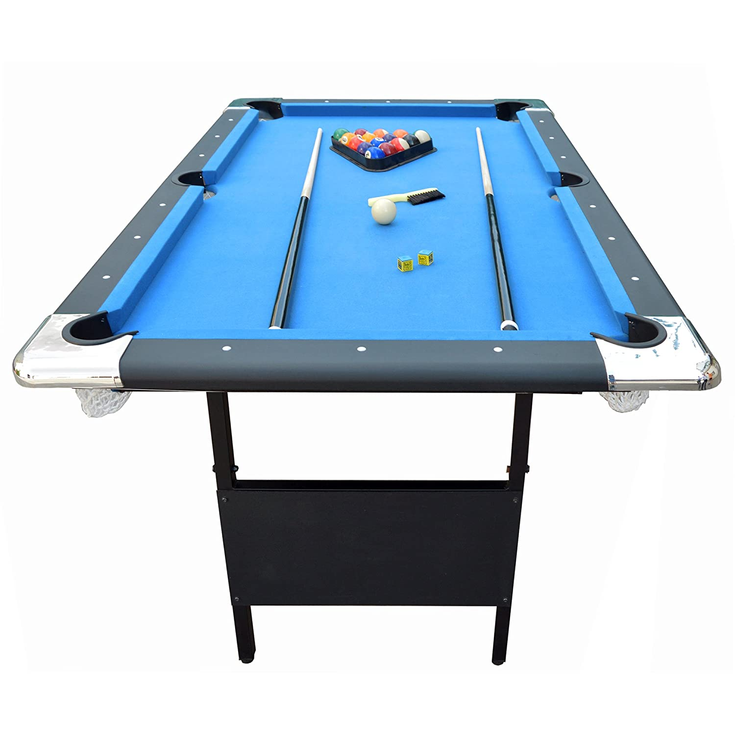 Folding legs pool table for sale - Amazon Com Hathaway Fairmont 6 Portable Pool Table Sports Outdoors