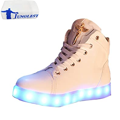 [Present:kleines Handtuch]Weiß 38 EU Glow High-Top Damen USB Gebühre Weiß athletischen Sneaker Sportsschuhe LED Lig o9bG3t1Ar
