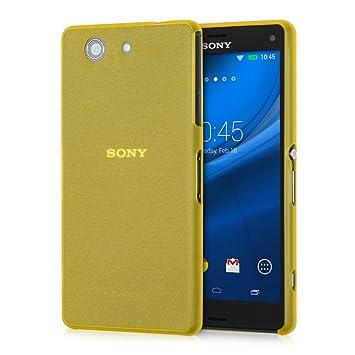 kwmobile Funda compatible con Sony Xperia Z3 Compact - Carcasa para móvil - Cover protector trasero amarillo