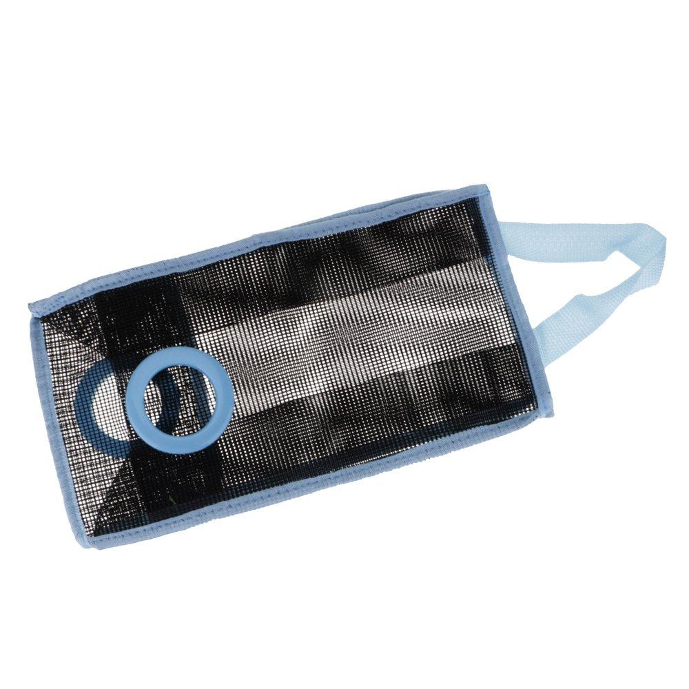 azul VANKER malla bolsa de pl/ástico soporte y dispensador de basura bolsa de residuos para cocina organizador de almacenamiento
