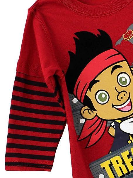 11db981854 Amazon.com: Disney Jake and the Neverland Pirates Toddler Boys Shirt (2T):  Clothing