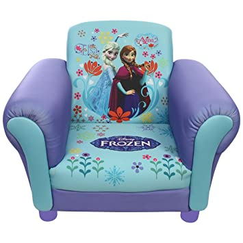 Disney Childrenu0027s Princess Frozen Elsa U0026 Anna Upholstered Chair