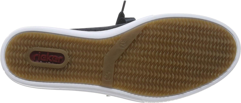 Rieker Women's L59l7-14 Low-Top Sneakers Blue (Pazifik/Silber 14)