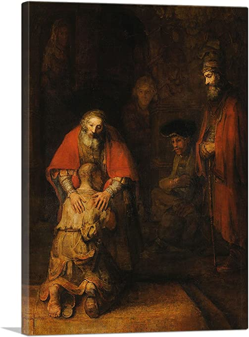 Rembrandt Canvas Art Print The Return of the Prodigal Son