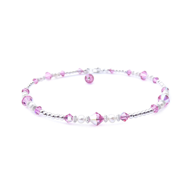 Pink Tourmaline Bracelet October Birthstone December Birthstone Anxiety Bracelet Tanzanite Bracelet