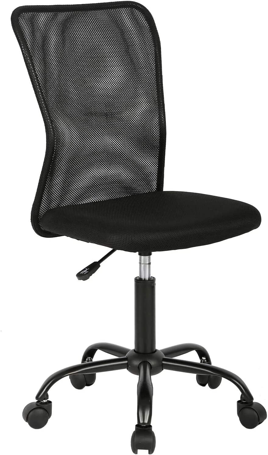 Ergonomic Office Chair Executive Mid Back Mesh Desk Chair Armless Rolling Swivel Chair Height Adjustable Drafting Chair Support