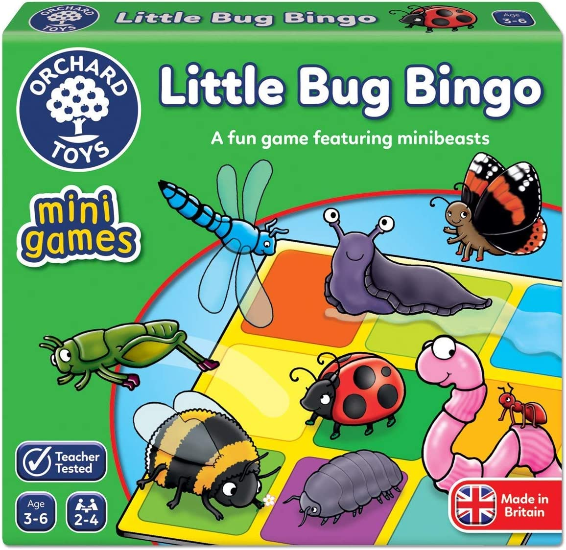 Orchard Toys Little Bug Bingo Mini Juego: Amazon.es: Juguetes y juegos