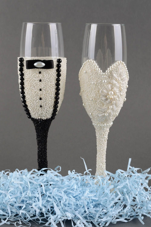 Copas para boda hechas a mano con cintas vasos de cristal regalo original: Amazon.es: Hogar